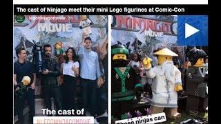 The cast of Ninjago meet their mini Lego figurines at Comic Con