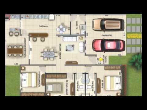 Planos de casa moderna dos niveles youtube for Casa moderna 7x15
