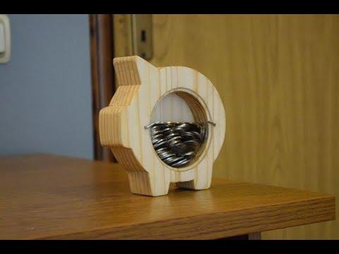 Making Wooden Piggy Bank | Woodwork