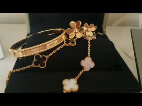 Van Cleef and Arpels haul!  Perlee bracelet. With Alhambra !