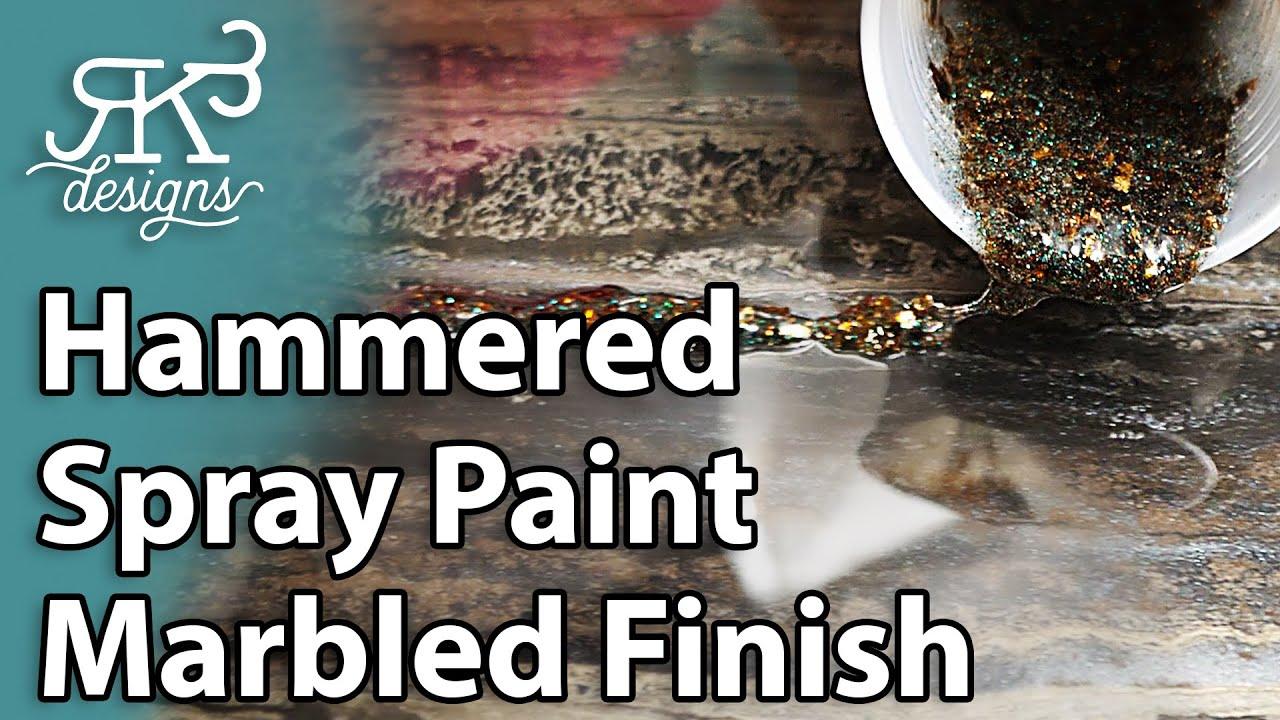 Hammered Spray Paint Marbled Finish | RK3 Designs