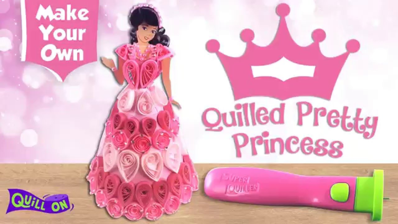 Make Your Own Quilled 3d Doll Free Template Youtube