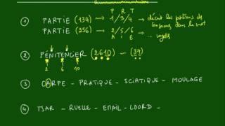 Logique - MOTS - Méthode n°1 - Positions des lettres