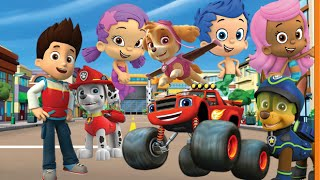 Paw Patrol BLAZE AND THE MONSTER MACHINES Bubble Guppies - Nick Jr Sticker Pictures