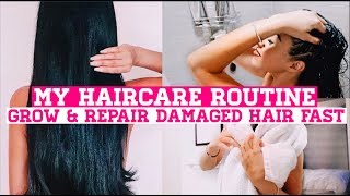 MY HAIR CARE ROUTINE ♡ HOW I GREW OUT MY HAIR   How To REPAIR DAMAGE & Grow Longer Hair Fast