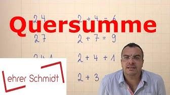 Quersumme - Was ist das? | Mathematik | Lehrerschmidt