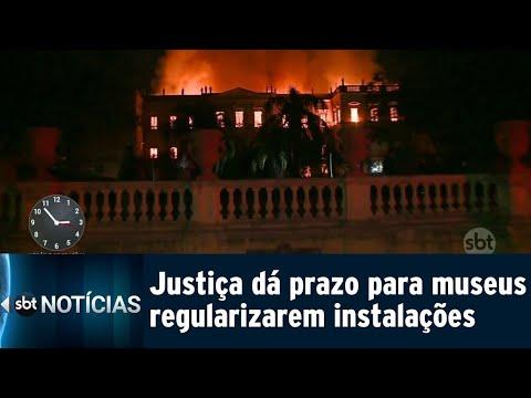 Após incêndio, Justiça dá prazo para que museus regularizem segurança | SBT Notícias (13/09/18)