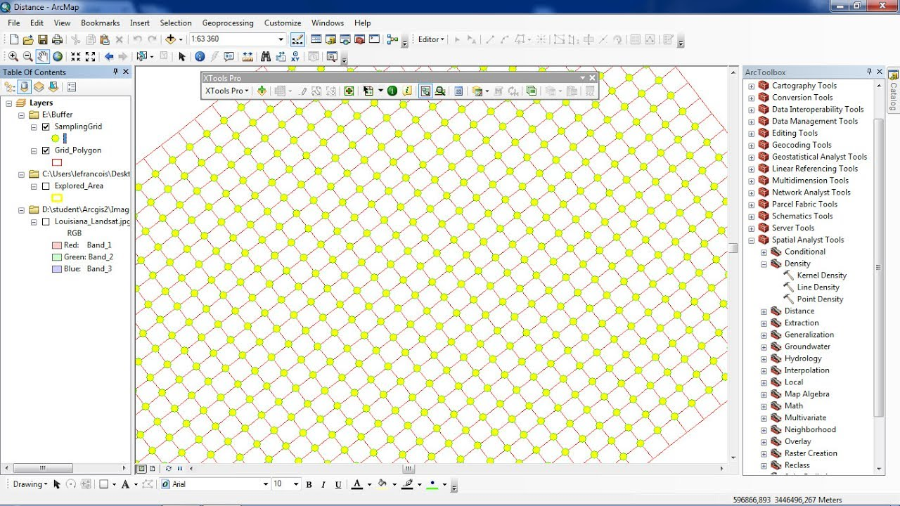 ArcGis XTools Pro Create Intersection Points from polygon grid
