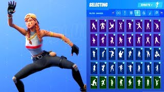 AURA SKIN SHOWCASE WITH ALL FORTNITE DANCES & EMOTES