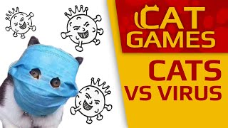 CAT GAMES - Antiviral Cats (Videos for Cats to watch) 1 Hour 4K 60FPS