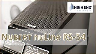 High End 2016: Nubert nuLine RS 54 - hands on (Deutsch)