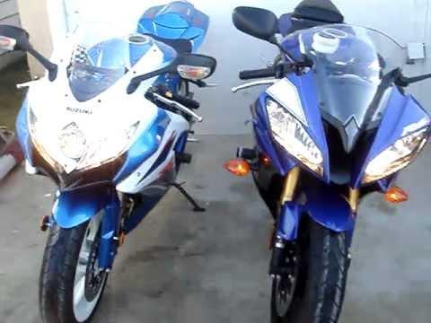Yamaha R6 & Suzuki Gsx-R 600 - YouTube