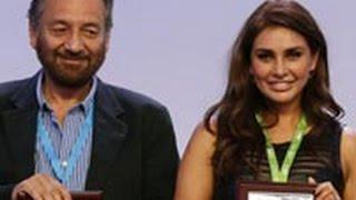 Mumbai For Water- Shekhar Kapur And Lisa Ray At Creator Space Summit