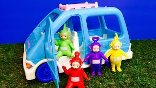 TELETUBBIES TOYS Fisher Price Retro Van Ride!