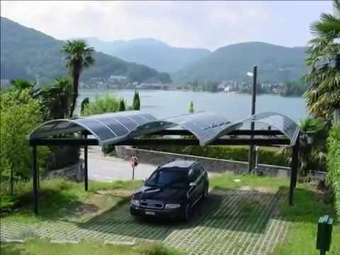 coperture parcheggi auto, carports auto, pensiline per sosta auto, tettoie per riparo auto ...