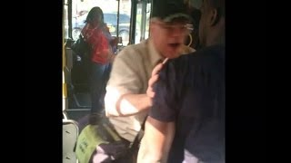 Racist Man Tells Woman On The Bus To Get Up From Her Seat And Go Sit In The Back !
