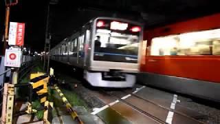 【夜編】小田急線高速通過&ジョイント音 GSEも通過!