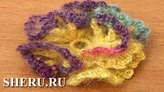 Crochet 3D Ruche Flower Урок 88 Как вязать цветок крючком