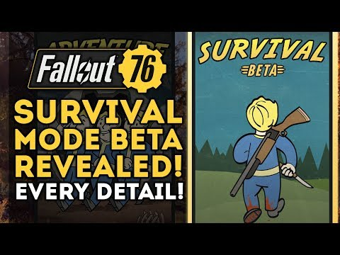 Fallout 76 - Survival Mode BETA Revealed! PVP INFO BLOWOUT! New Patch Info! thumbnail
