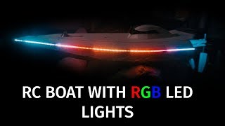 "RC boat with ""out of this world"" RGB led lights"