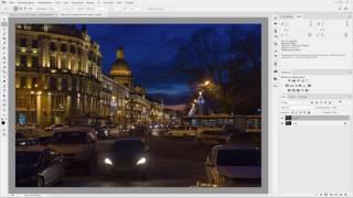Adobe Camera Raw. Обработка вечерней фотографии города. (Евгений Карташов)