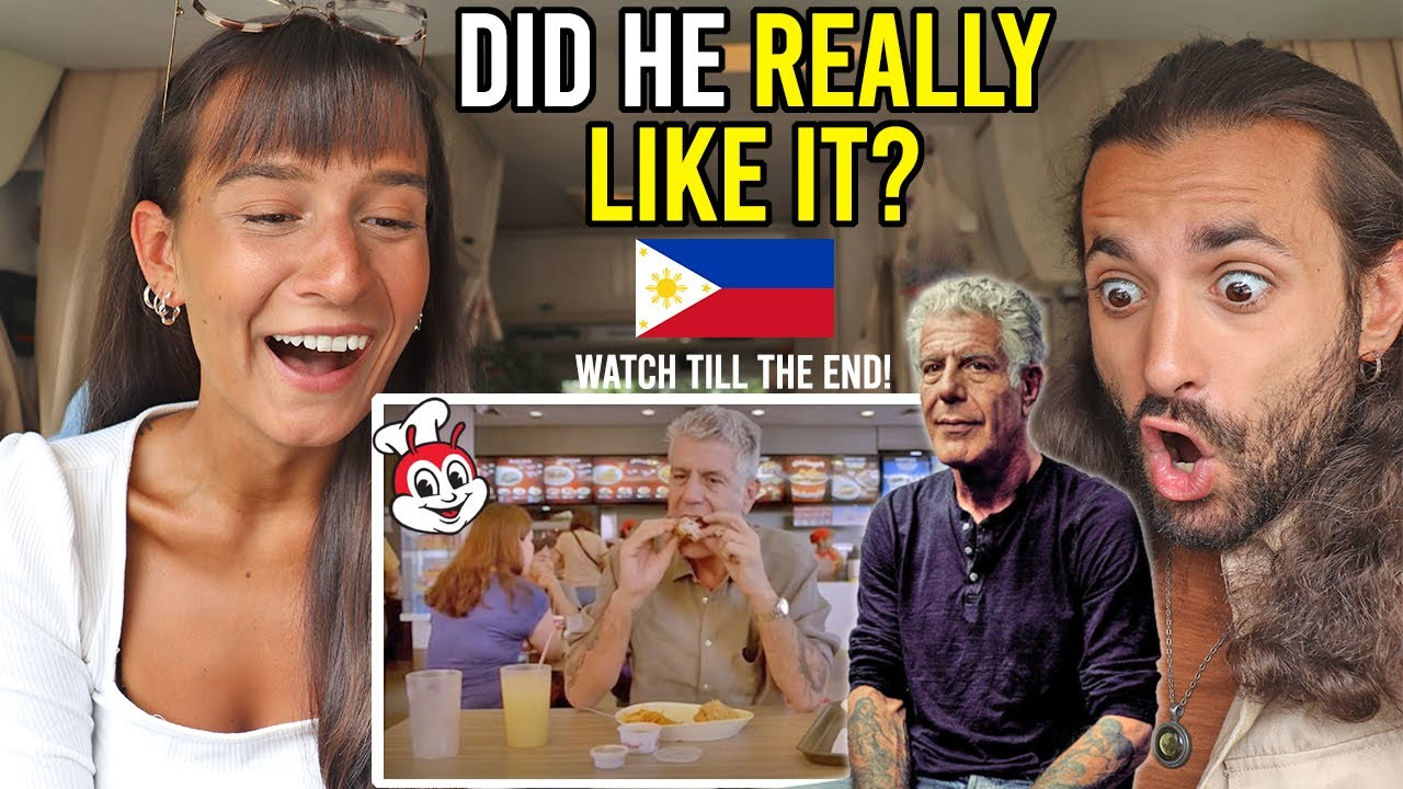 CELEBRITY Chef ANTHONY BOURDAIN tries FILIPINO JOLLIBEE for the FIRST TIME!