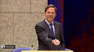 Premier Mark Rutte wijkt niet - Debat afschaffing Dividendbelasting