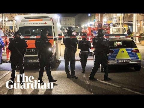 Germany shootings: footage shows aftermath of deadly shisha bar attacks