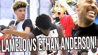 LaMelo Ball WILD GAME vs ELITE PG Ethan Anderson! Lavar SHOWS UP The Refs! Big Ballers VS Gamepoint