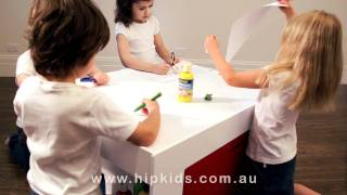 Hip Kids Activity Table | Arts Craft Play Table | Chalkboard Table | Lego Table
