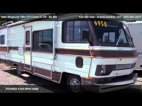 1988 Allegra By Tiffin 27ft Class A Rv 27ft Class A Rv