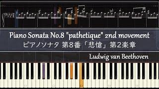 悲愴 第2楽章 ピアノ楽譜 / ベートーヴェン