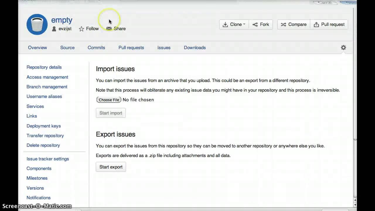 Bitbucket Issue Export