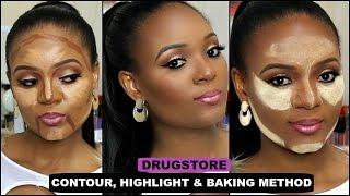 how to drugstore contour highlight foundation for black women makeup. Black Bedroom Furniture Sets. Home Design Ideas