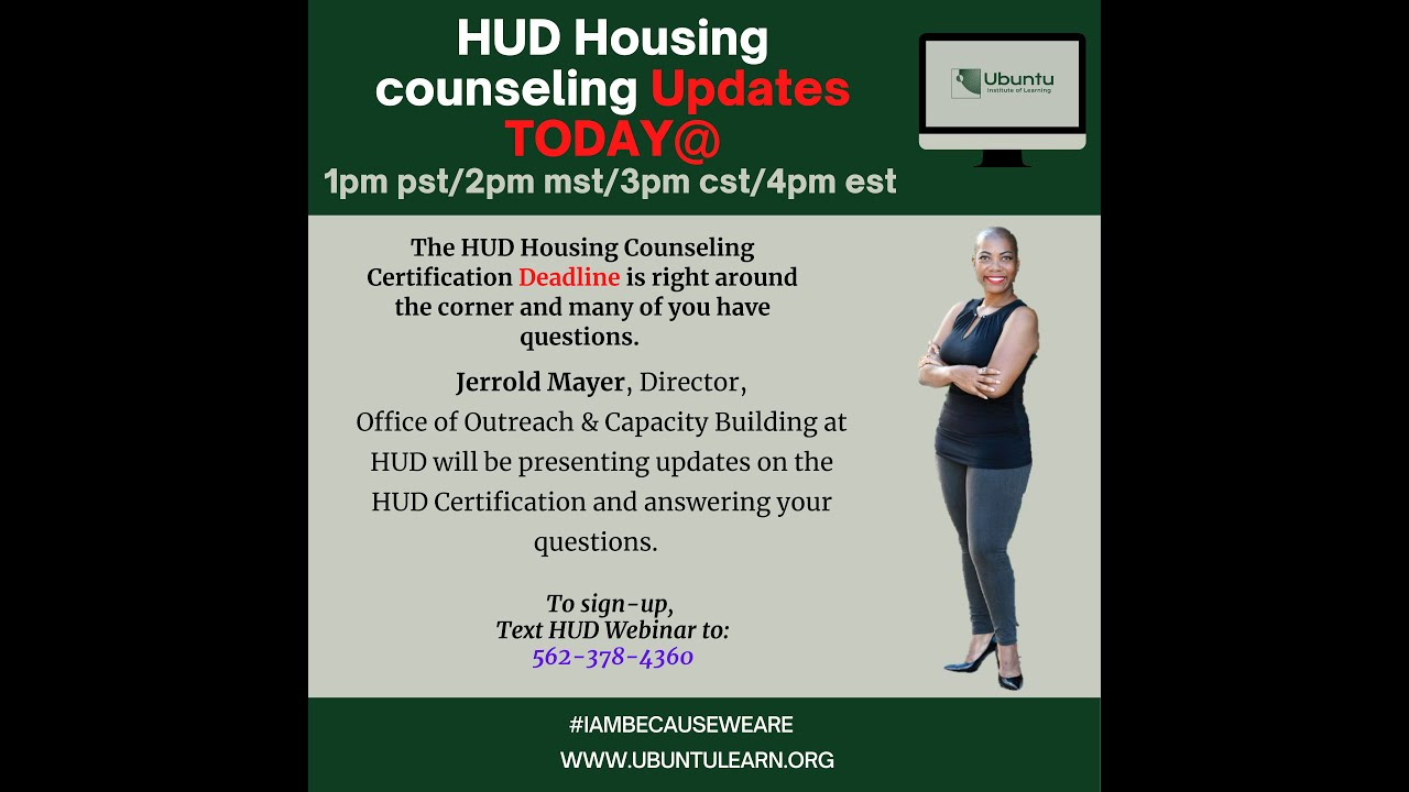 Housing Counseling Update with HUD