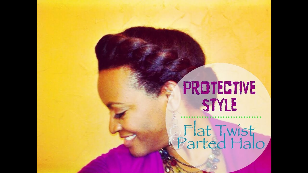 25 Natural Hair Journey Simple Flat Twist Parted Halo