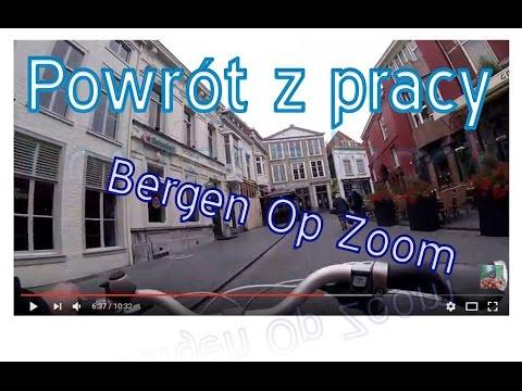 Powrót z pracy przez Bergen Op Zoom. Na rowerze. Praca i życie w Holandii.
