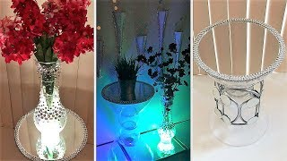 Diy Clear Frosty Vase & Clear Side Table| Simple and Inexpensive!