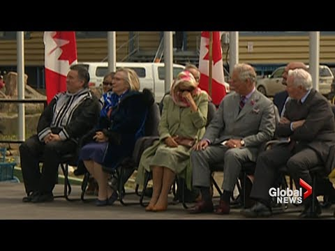 Prince Charles, Camilla can't stop laughing during throat singers' performance in Iqaluit