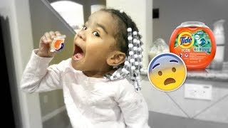 Four Year Old Does The REAL Tide Pod Challenge