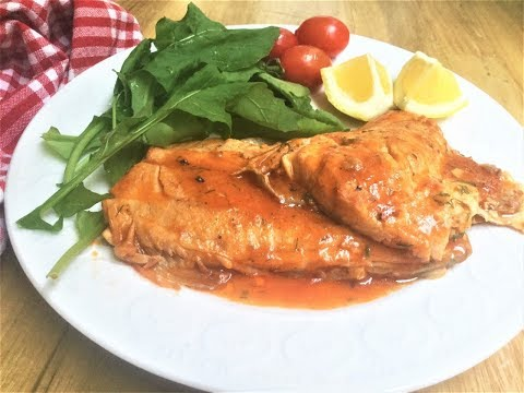 PAN SEARED SALMON WITH SOUR SAUCE I Incredibly delicious, easy to make