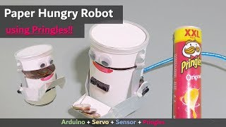 Arduino Project ] Paper Hungry Robot | Servo Sensor tutorial example no 3d printer (Coin Eating)