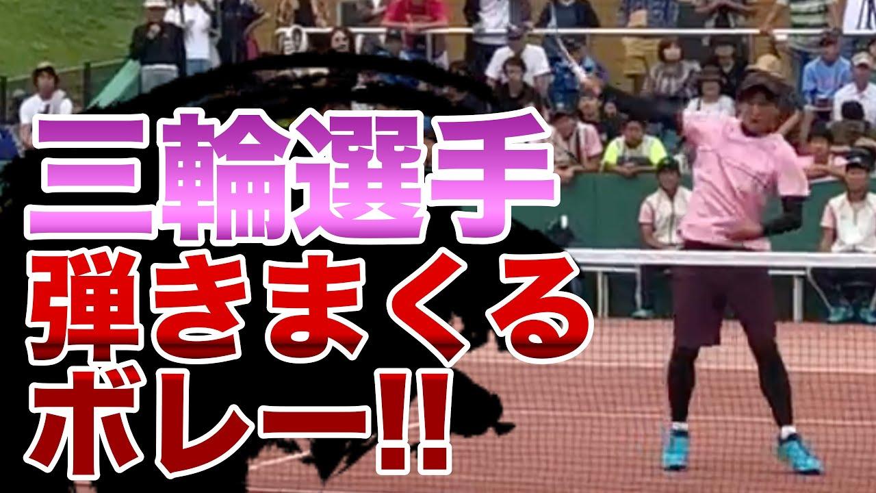 三輪選手 ボレーとは思えない弾き 茨城国体2019【ソフトテニス】