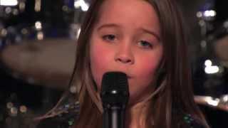 6 year old aaralyn scream her original song zombie skin america s got talent
