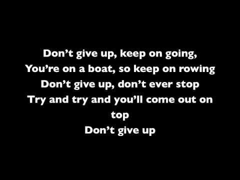 Bruno Mars - Don't Give Up (Sesame Street) Lyrics