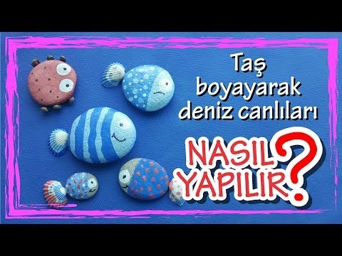 Tas Boyama Deniz Hayvanlari Yapimi Diy Youtube