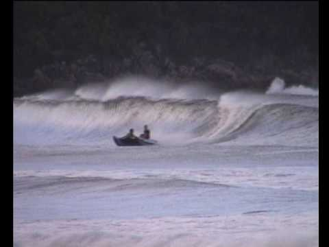 Inflatable boat - big wave surfing