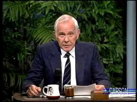 Johnny Carson: Hilarious Phrases You'll Never Hear, Tonight Show 1989