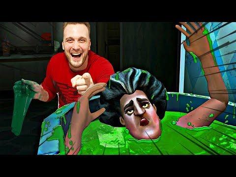 LUDA UČITELJICA UPALA U SLIME - Scary Teacher 3D