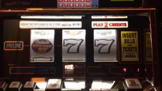 Triple Red Hot 7s HANDPAY high limit slots $25 reel slots